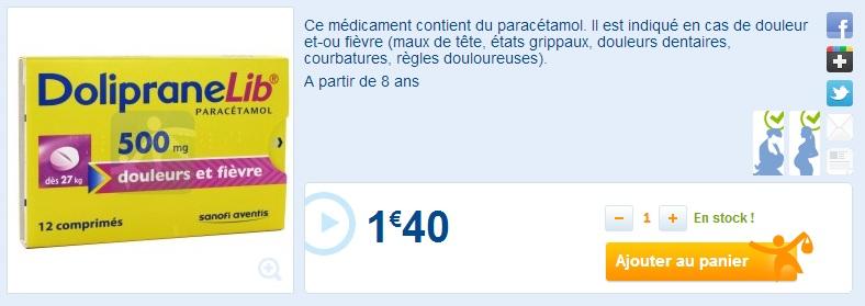 Liste des médicaments pouvant être vendus sur Internet