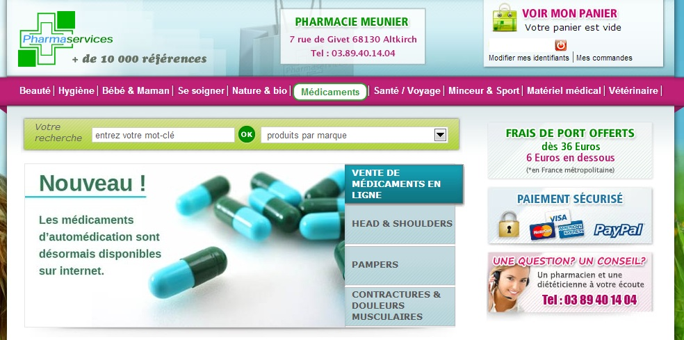 Pharmacies en ligne certifiees